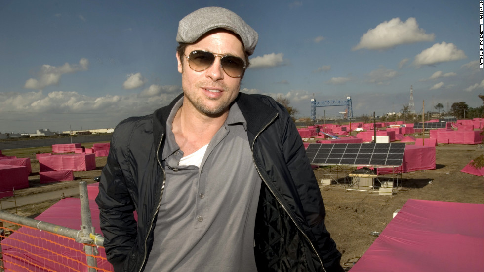"Along with his partner Jolie, Pitt made an effort to give back. Through his <a href=""http://makeitright.org/about/"" target=""_blank"">""Make It Right""</a> organization, which builds sustainable homes for communities in need, he planned the construction of 150 eco-friendly homes in the Lower Ninth Ward of New Orleans."