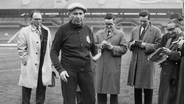 Bela Guttmann led Benfica to the European Cup in 1961 and 1962.