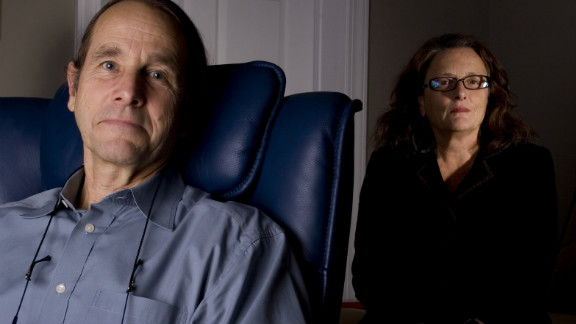 Dr. Michael Mithoefer and his wife, Annie, in the Mount Pleasant, South Carolina, office where they administer MDMA treatment to PTSD patients as part of their trial.