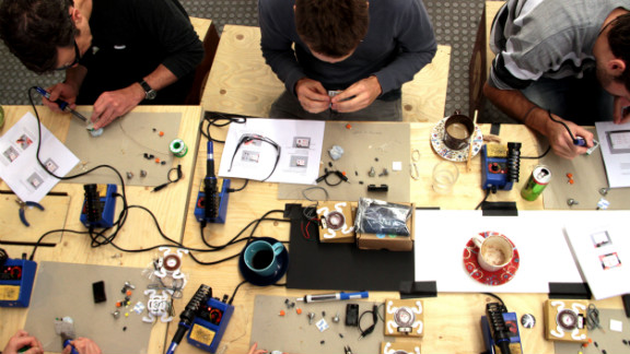 The events are typically characterized by group lessons in anything from soldering, programming and designing.