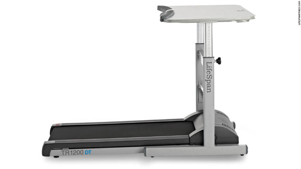 "With price tags starting at $800, the treadmill desks from LifeSpan Fitness are only for high rollers. But they're a terrific way to sneak fitness into your day -- and help fight back against the burgeoning obesity trend caused in part by all the sitting we do. The TR1200-DT model we tried ($1,500, <a href=""http://www.lifespanfitness.com"" target=""_blank"">lifespanfitness.com</a>) was smooth, quiet, and sturdy, and the simple treadmill console tracks steps, calories burned, and distance walked. No fancy hill or interval programs here -- this machine means, well, business."