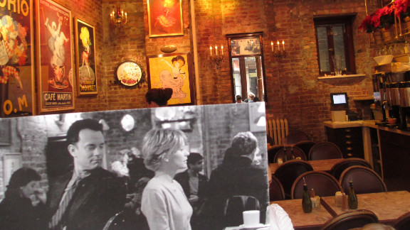 Tom Hanks and Meg Ryan meet at Cafe Lalo. The popular New York City cafe -- located at 83rd Street and Amsterdam Avenue -- also appears in the Bollywood film Anjaana Anjaani.