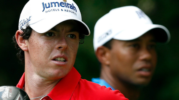 McIlroy has admitted idolizing Woods as a boy, but has now usurped him as golf