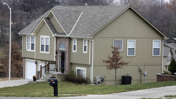 The residence of Kasandra Perkins, Belcher's girlfriend, is seen on December 1, 2012, in Kansas City.