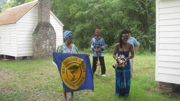 Queen Quet (right) was chosen to represent the Gullah/Geechee nation in 2000.