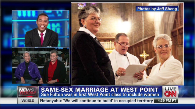 Same-sex couple weds at West Point