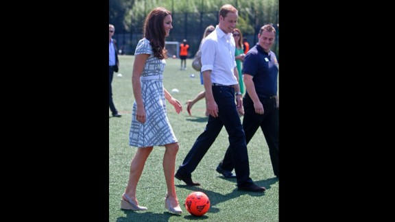 Also on July 26, she and Prince William visited Bacon
