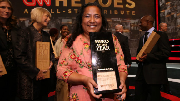 Pushpa Basnet at the CNN Heroes: An All Star Tribute event in 2012, in Los Angeles, California.