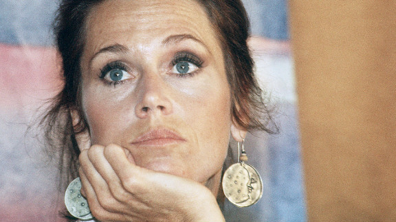 """Fonda speaks to the press for her film """"Coming Home"""" in 1978 in Cannes, France, during the 31st International Cannes Film Festival. """"Coming Home"""" netted her an Academy Award for best actress, her second. She also won for """"Klute"""" in 1971."""