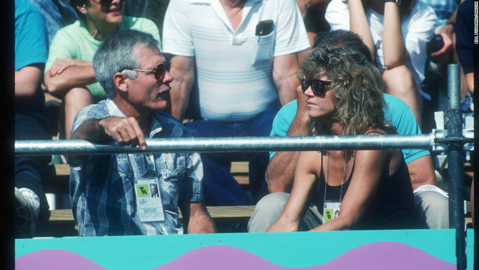 Fonda and Ted Turner attend the 1990 Goodwill Games in Seattle. Turner created the Goodwill Games, first held in Moscow in 1986. The couple married in 1991 and divorced 10 years later.
