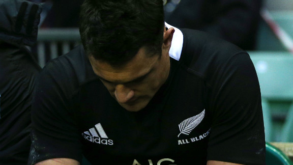 Dan Carter was dejected after New Zealand's shock 38-21 defeat by England two days before the World Cup draw, but rugby's record points scorer gained some consolation after being named the world's best player for the second time.