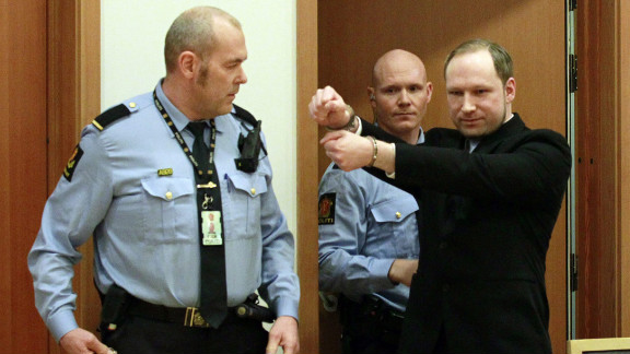 February 6: Anders Behring Breivik arrives for his court hearing in Oslo, Norway. He was sentenced to 21 years in prison on August 24 for killing 77 people in two terror attacks in Norway in 2011. Eight people died in a bombing in Oslo, while 69 young people were shot to death on nearby Utoya island.