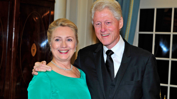 The Clintons hosted the recipients Saturday night at a State Department dinner.