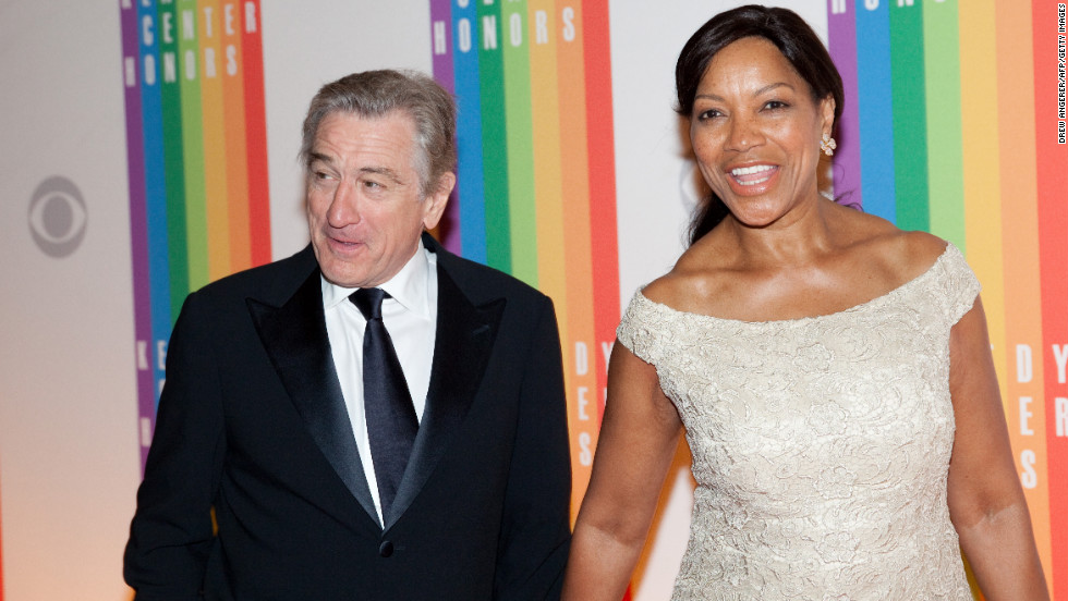 Actor Robert De Niro and his wife, Grace Hightower, attend the 35th Kennedy Center Honors on Sunday.