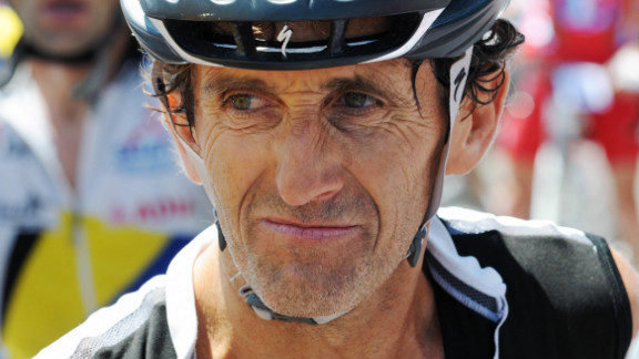 Prost is a keen cyclist and is pictured here at the end of the 2009 L