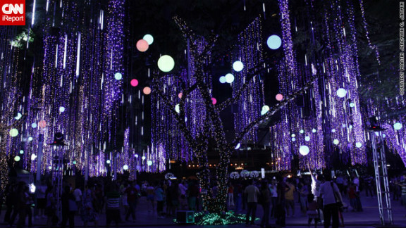 Christmas celebrations in the Philippines are the longest -- and most lavish -- in the world. These beautifully lit trees in Makati City, Philippines were captured by iReporter Martin Javin.
