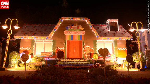 """Some displays are more common than others -- this unusual candy house display in Binan City intrigued iReporter Pauline Alvarez.  """"You can"""