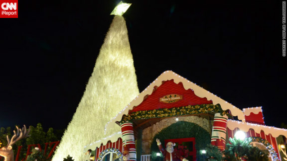 In the Philippines, Christmas trees come in all shapes and sizes -- this one in iReporter Miaflor Tatlonghari