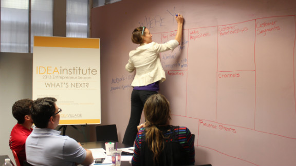 Entrepreneurs work on business plans at IDEAinstitute, a weekly forum that helps sustain New Orleans