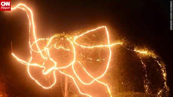 iReporter Aaron Banaticla loved this outlandish elephant light display near his Laguna home, although he was at a loss to explain why locals had chosen the creature for their Christmas decorations.