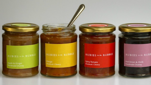 Reducing waste is another big priority for restauranteurs these days. British start-up Rubies in the Rubble creates chutneys, jams and pickles from surplus fruit and vegetables. The company is now producing 1,000 jars a week, saving over a ton of fruit from being wasted every seven days.