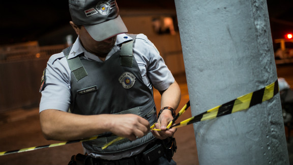 The Brazilian city of Sao Paulo has been battling a crime wave, with 100 police officers dying this year -- prompting security concerns ahead of the 2014 World Cup.