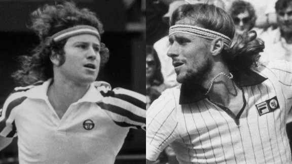 "Fiery American John McEnroe, left, and ice-cool Swede Bjorn Borg created an iconic tennis rivalry. ""When those two collided, at the height of tennis perfection, that"