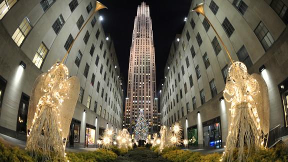 The notorious Rockefeller Center Christmas tree.