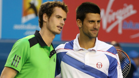 "A new rivalry has grown in tennis this year between U.S. Open and Olympic champion Andy Murray, left, and childhood friend Novak Djokovic, the world No. 1. ""People say that Murray and Djokovic are close but I think it"