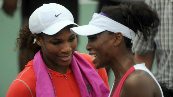 "Sometimes you get two great athletes, but they are too close to be proper rivals -- such as tennis star Serena Williams, left, and her sister Venus. ""The great things about sport is the sense of competition, the uncertainty of the outcome, the fairness of the playing field,"" Tu says. ""You might be able to suspend enough of your fraternal or sisterly love to play a decent game of tennis but it won"