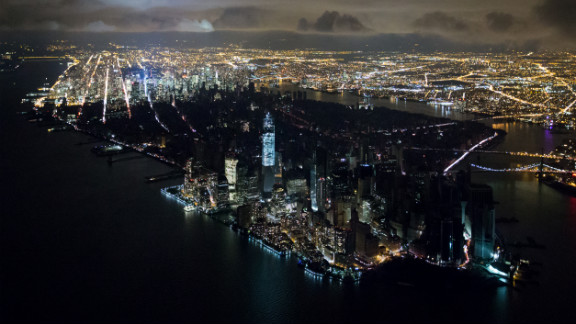 November 1: An aerial view of New York reveals a widespread power outage after Superstorm Sandy. Photographer Iwan Baan credits his camera for allowing him to capture the memorable image from a helicopter at night. He told the Poynter Insitute that with older equipment, the shot would have been impossible.