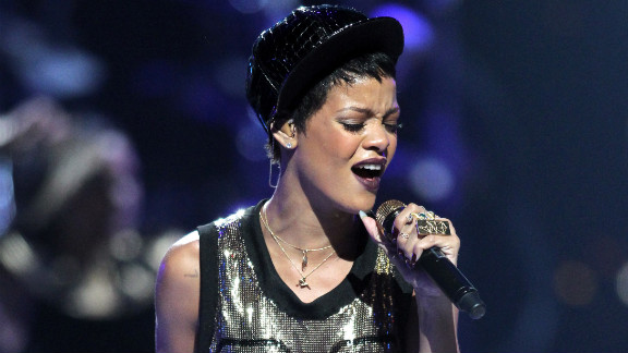 Rihanna performs during the 2012 iHeartRadio Music Festival in Las Vegas.
