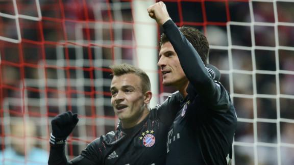 Mario Gomez and Xherdan Shaqiri were both on target as last year