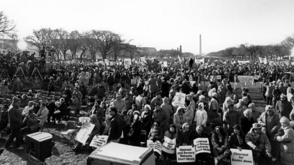 People of all backgrounds -- Jews and non-Jews, religious and secular -- came for the Freedom Sunday rally at the National Mall in Washington. Their mission: To demand human rights in a faraway land.