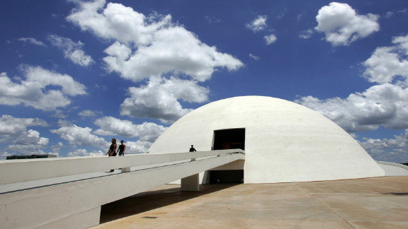 """The National Museum of the Republic in Brasilia was inaugurated in 2006, on Niemeyer's 99th birthday. The museum, which is also known as National Museum Honestino Guimarães, was <a href=""""http://www.brasil.gov.br/brasilia-english/tourist-guide/cultural-tourism/national-museum/br_model1?set_language=en"""" target=""""_blank"""" target=""""_blank"""">named after a student</a> by that name who fought for democracy and disappeared."""