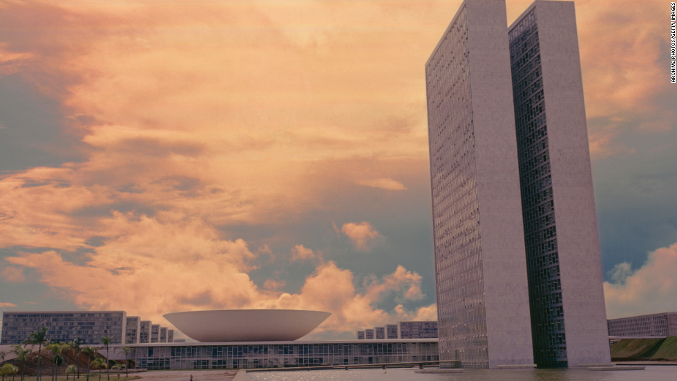 In the 1960s, Niemeyer designed the National Congress building located in Brasilia.