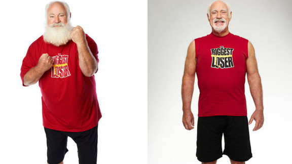 """Roy Pickler, a professional Santa, dropped 88 pounds on """"The Biggest Loser."""""""
