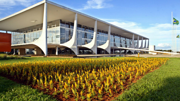 View of the Planalto Palace in Brasilia.