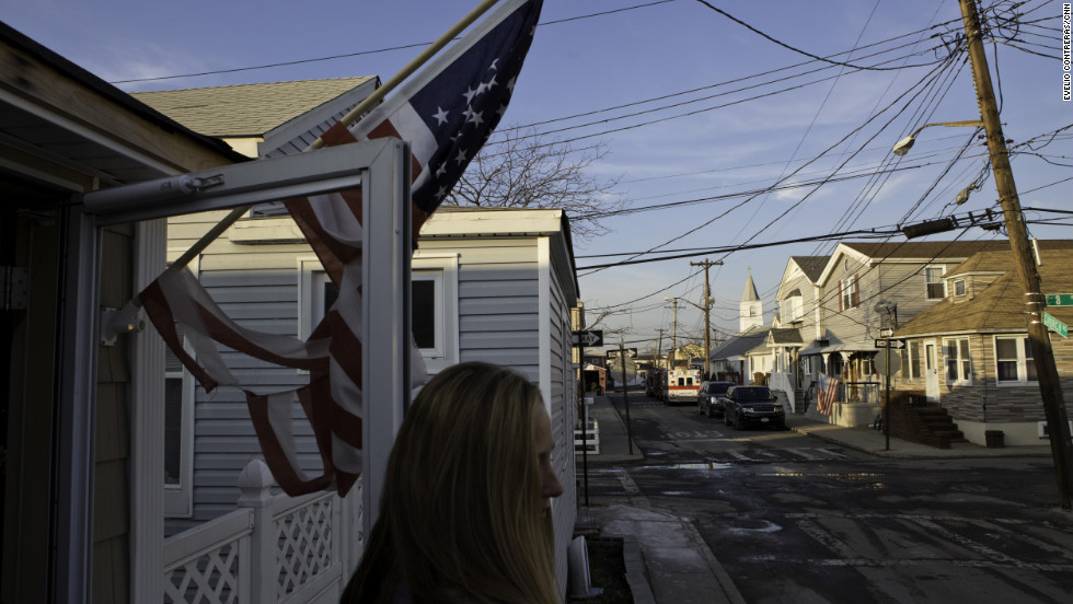 Karen Panetta hopes her family can return to their home in Broad Channel, where she and her husband grew up and where they've raised their kids. They're waiting on insurance or FEMA money to hire a contractor.