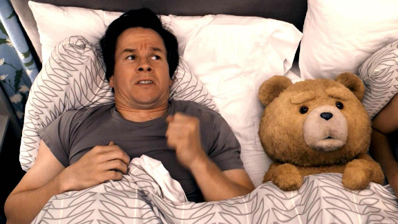 """The premise behind Seth MacFarlane's """"Ted"""" had the potential to be either hilarious or hilariously awful, but the movie became one of the summer box office's best. Starring Mark Wahlberg as a man who still hasn't let go of his relationship with his (raunchy) teddy bear, voiced by MacFarlane, <a href=""""http://www.cnn.com/2012/07/02/showbiz/movies/ted-magic-mike-box-office-ew/index.html?iref=allsearch"""" target=""""_blank"""">""""Ted"""" was a risk that paid off well.</a>"""