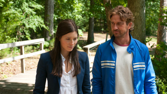 """Jessica Biel stars as Stacie and Gerard Butler stars as George in """"Playing for Keeps."""""""