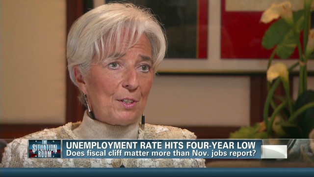 IMF chief on fiscal cliff global impact