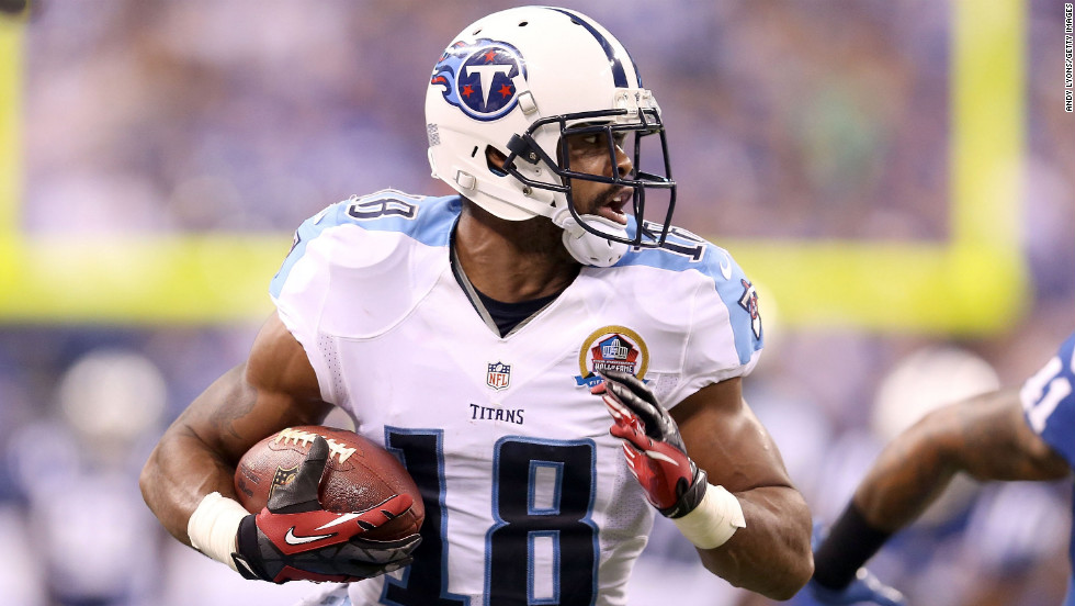 Titans wide receiver Kenny Britt runs with the ball against the Colts on Sunday.