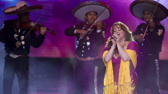 Rivera performs during the Teleton 2010 in December 2010 in Mexico City. Rivera