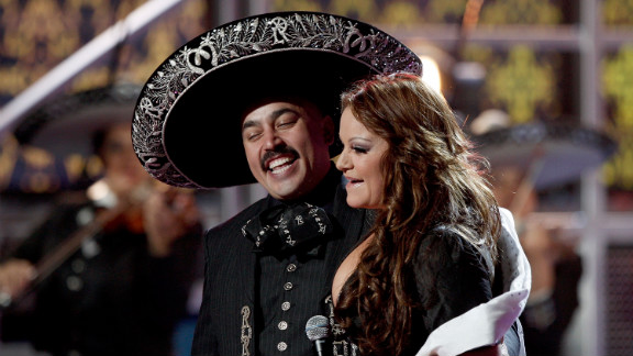 Rivera and her brother Lupillo team up during the ninth annual Latin Grammy Awards in November 2008 in Houston.