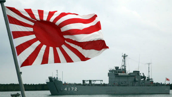 A Japanese Maritime Self-Defense Force vessels arrive at Kashiwazaki Port on July 17, 2007 in Kashiwazaki, Japan.