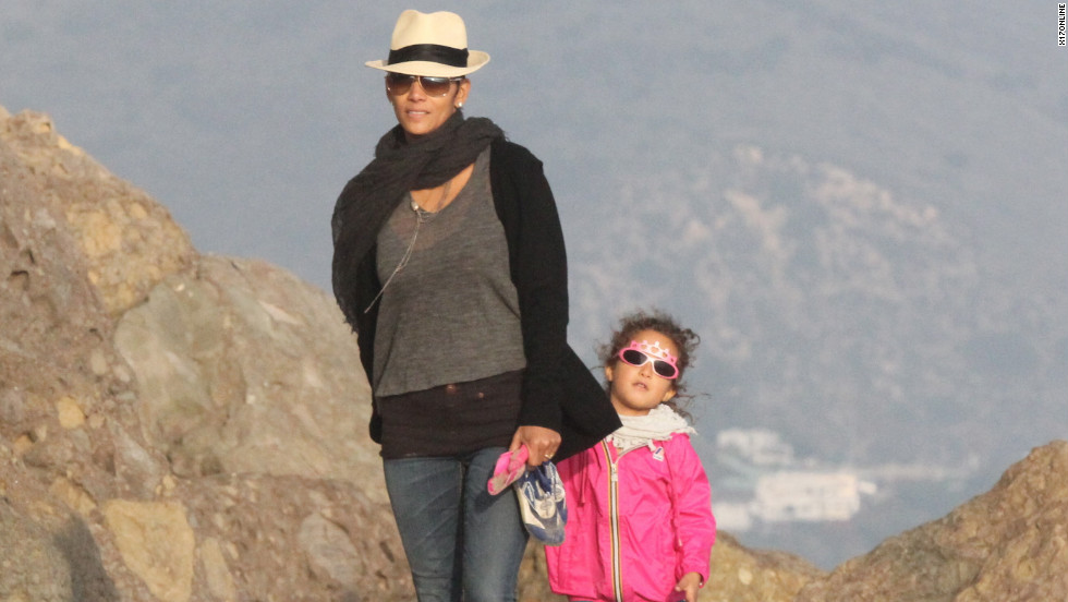 Halle Berry spends time with her daughter in Malibu.