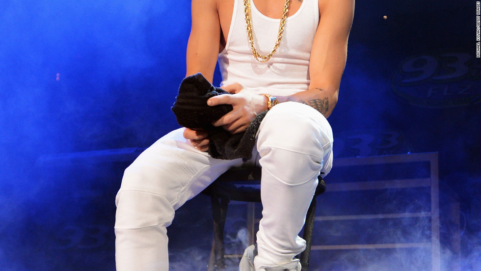 Justin Bieber performs during 93.3 FLZ's Jingle Ball in Tampa, Florida.