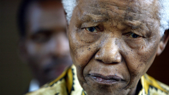 """South Africa's Nelson Mandela """"was happy to have visitors on this special day,"""" President Jacob Zuma said Tuesday."""