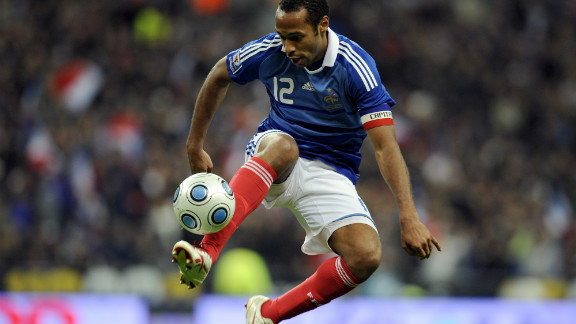 Now enjoying his European retirement as a New York Red Bull, Thierry Henry played for some of the continent